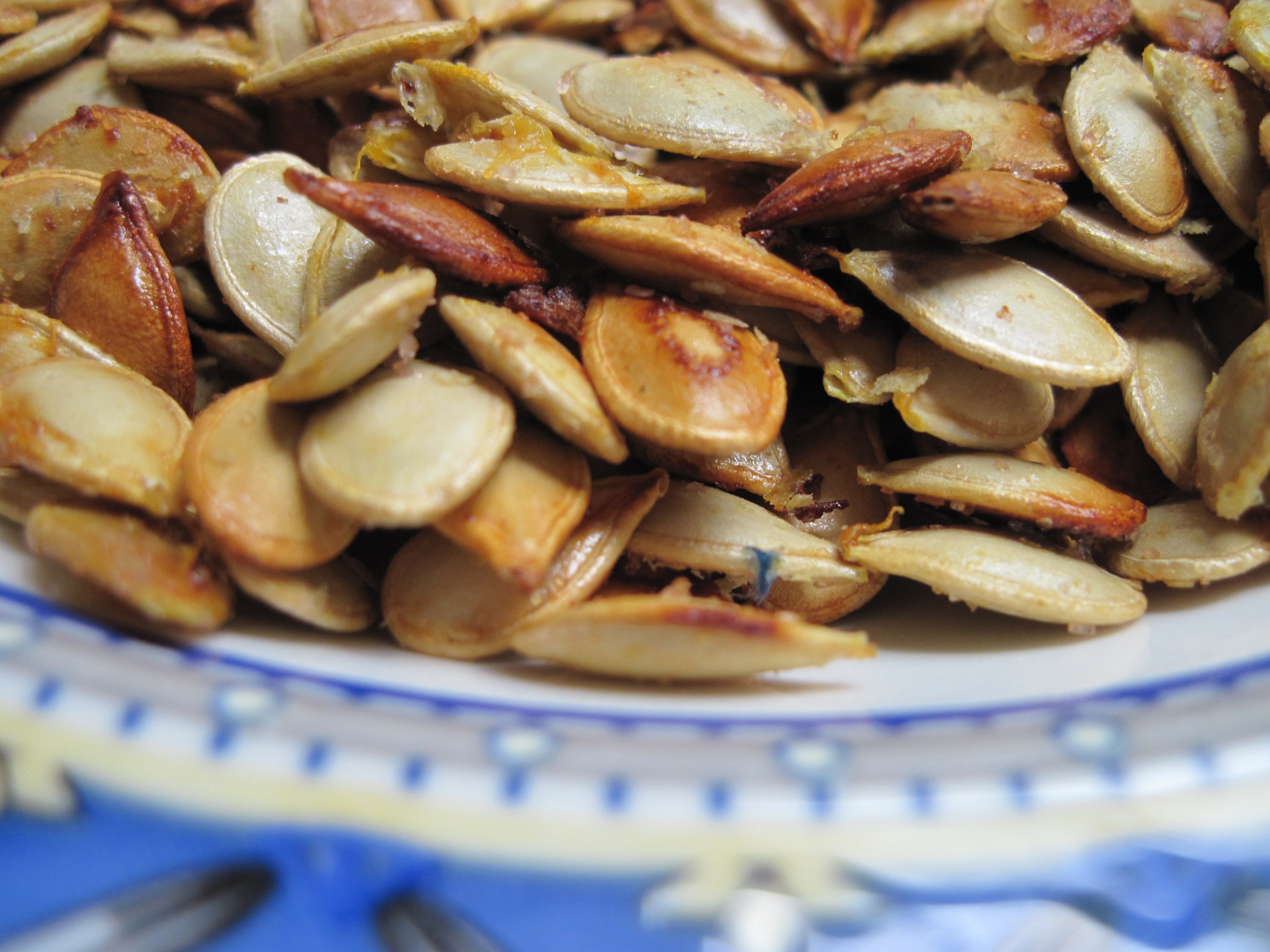 Spiced Cheesy Roasted Squash Seeds |