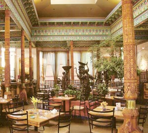 Interior view of Dushanbe Tea House in Boulder, Colorado.