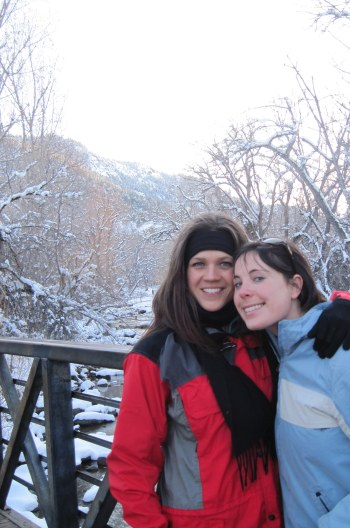 Courtney Pool and Queer Vegan Food, hanging out by the river in Boulder, CO