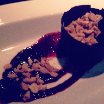 Chocolate peanut butter cup genius at Linger with The Gay Vegans and Courtney Pool!
