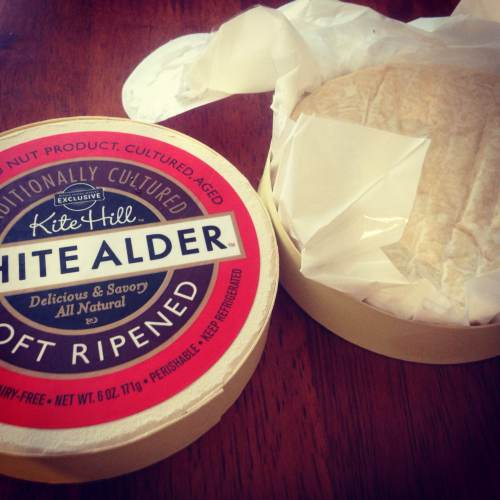 White Alder plant-based cheese created by artisan cheese company Kite Hill.