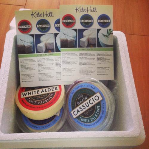 Kite Hill sent me generous samples of some of their much-hyped artisan vegan cheese.
