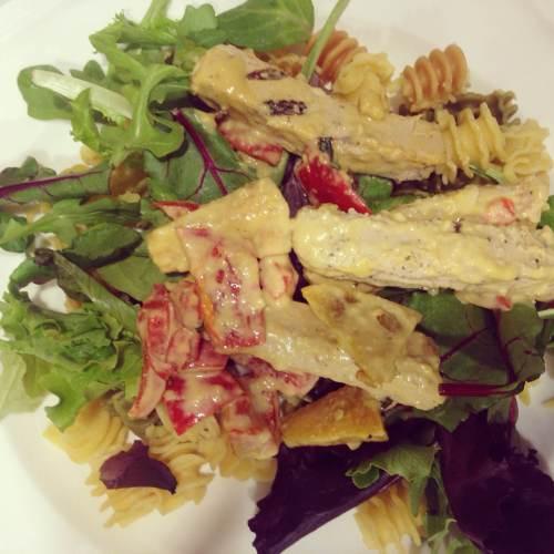 Beyond Meat Chicken Alfredo on Queer Vegan Food by Sarah E Brown