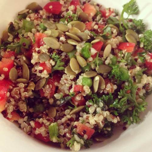 Quinoa with Herbs and Veggies