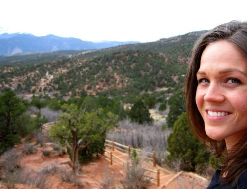 Courtney at Garden of the Gods in Colorado Springs.