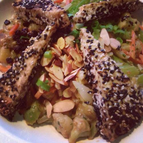 Senegalese Tofu At Adam's Mountain Cafe in Colorado Springs! With JL Goes Vegan!
