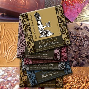 I love the delicate artwork that adorns each Chocolita bar.