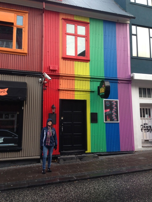 The gay bar, Kiki's, was located blocks from two veg-friendly restaurants in Reykjavík.