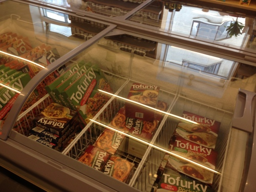 A health food store in downtown Reykjavík stocked more Tofurkey than one could imagine. Perfect for stocking up if you're traveling to more remote place in Iceland.