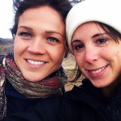 Courtney Pool and Sarah E. Brown in Iceland