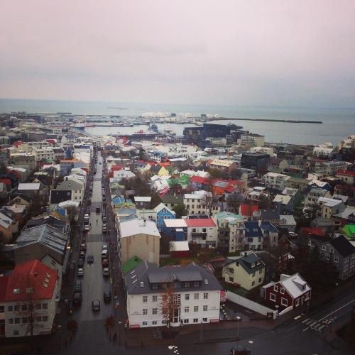 A view of downtown Reykjavík, Iceland