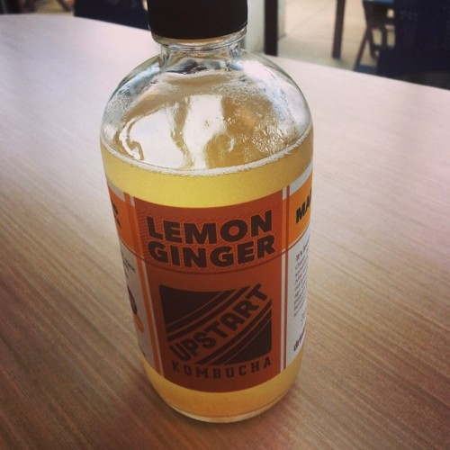 Upstart Lemon Ginger Kombucha on Queer Vegan Food in Boulder, CO